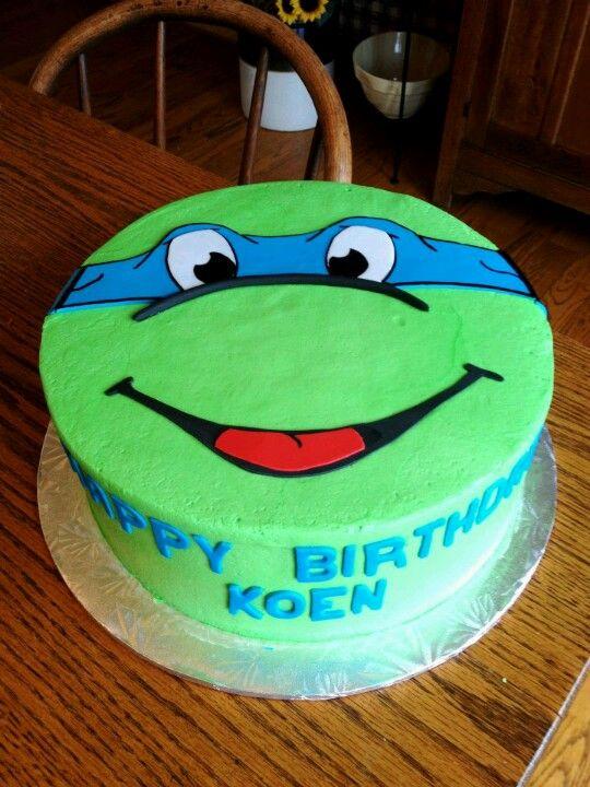 Ninja Turtle cake Mark Van Der Voort Van Der Voort Coles birthday