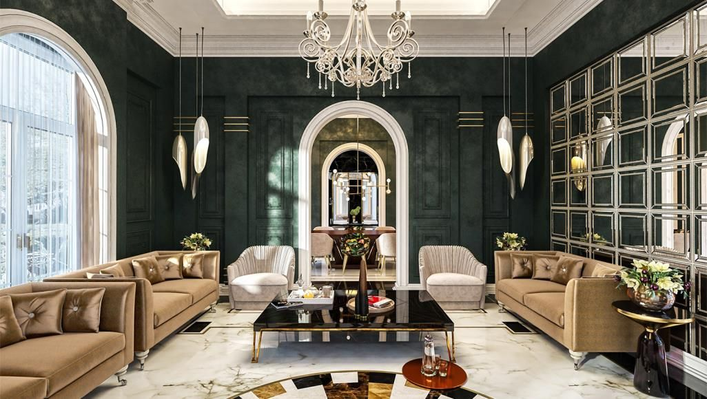 Arab Councils With Modern Touches And Bold Colors Residential