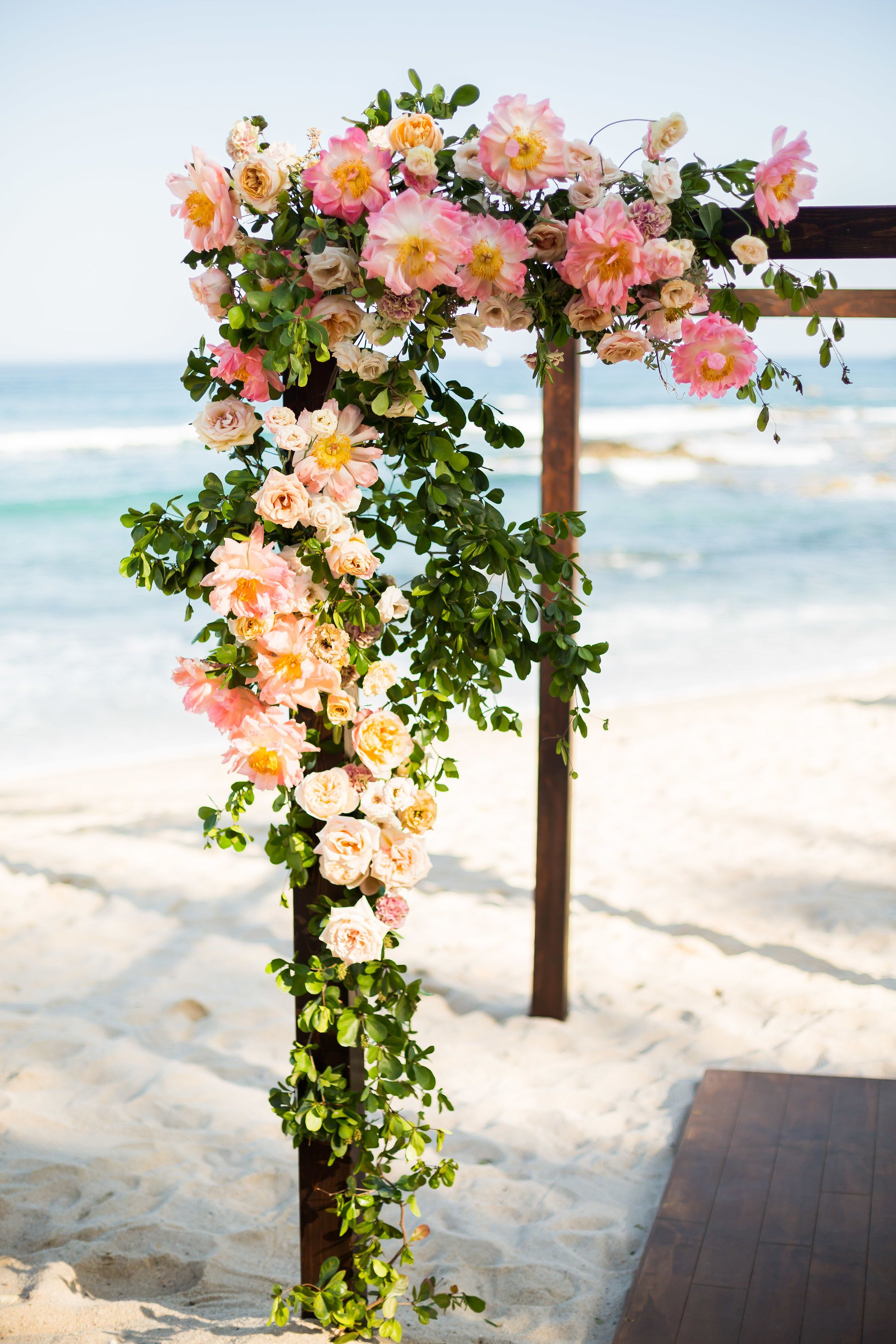 Wedding decoration ideas at the beach  Amy Abbott Events  Los Cabos Wedding  Cabo San Lucas Wedding