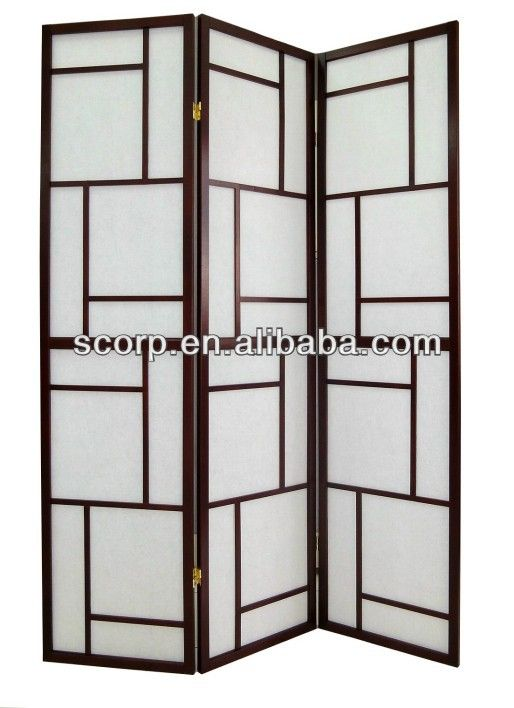 3 Panel Solid Wood Screen Room Divider Blinds Shades: #Wooden Folding Screen, #Room Divider Screen, #Shoji