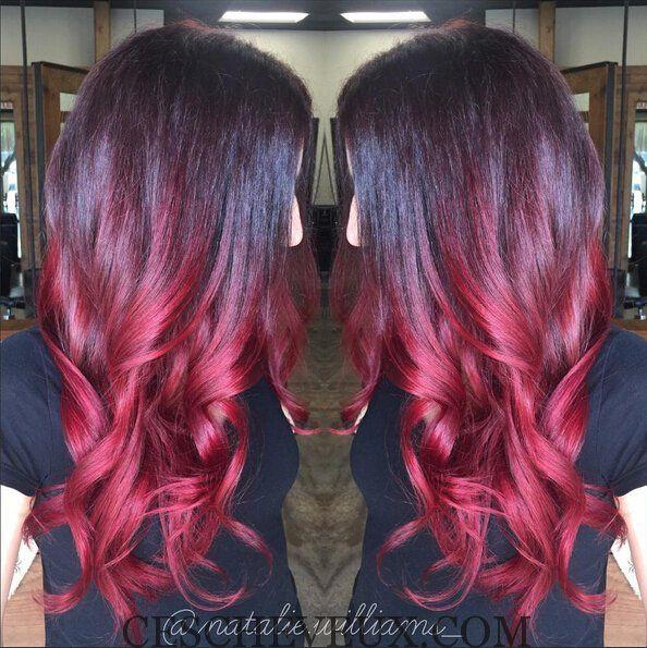 width long ondul coiffure pour red ombre hair cheveux pinterest couleur des cheveux rouge. Black Bedroom Furniture Sets. Home Design Ideas