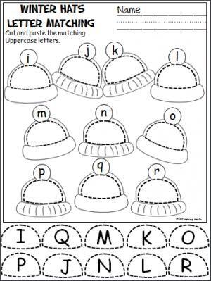winter hats cut and paste i r teacher ideas kindergarten preschool worksheets preschool. Black Bedroom Furniture Sets. Home Design Ideas
