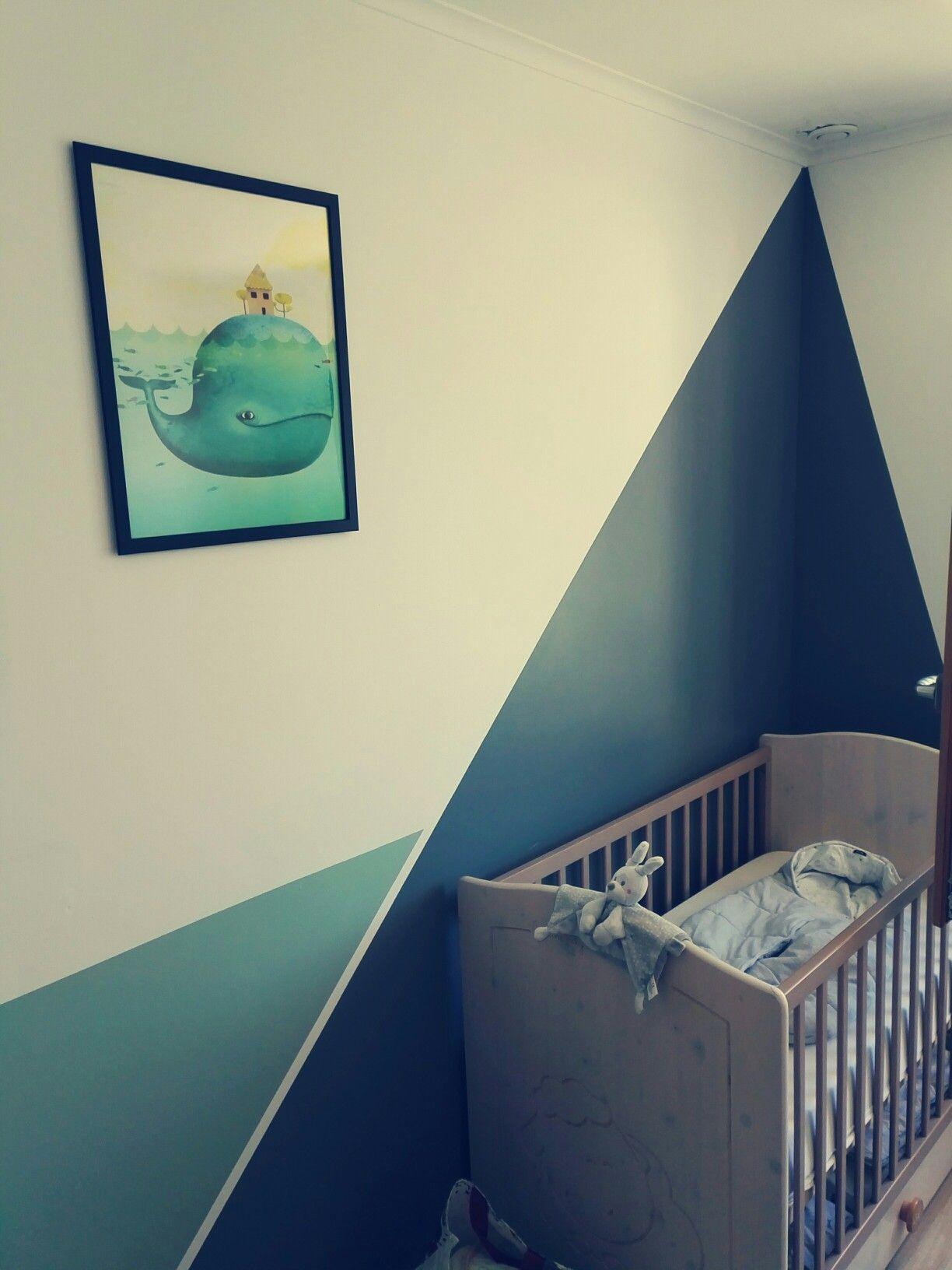 Chambre garçon, baleines Aliexpress, triangle de peinture