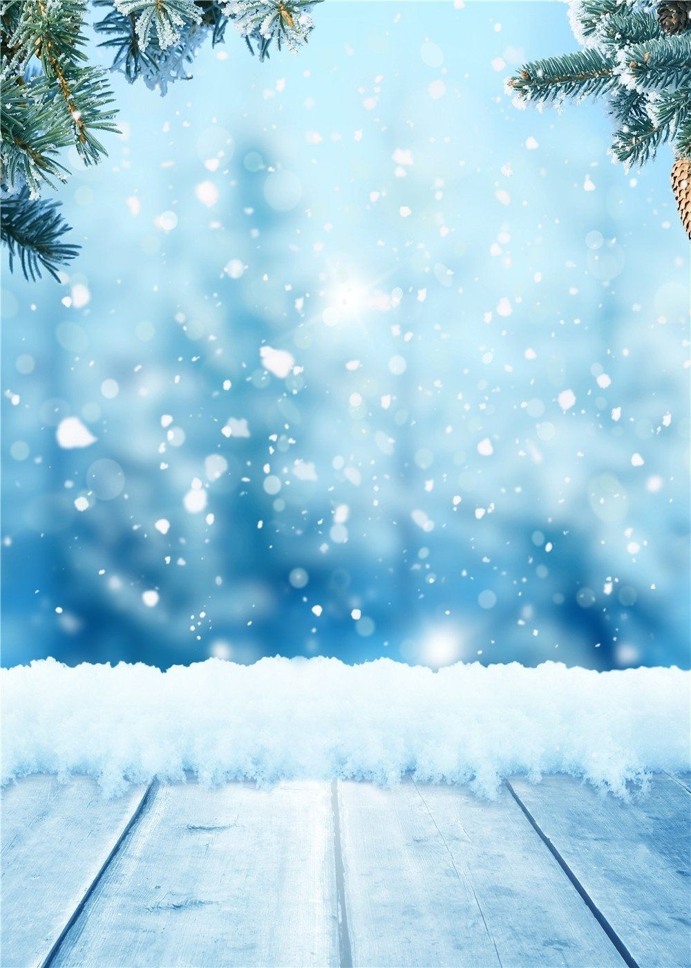 Winter Photography Backdrops 5x7ft Wood Floor Background Snowflakes Backdrop For Photo Backdrop Props Winter Backdrops Photography Backdrops Photo Backgrounds