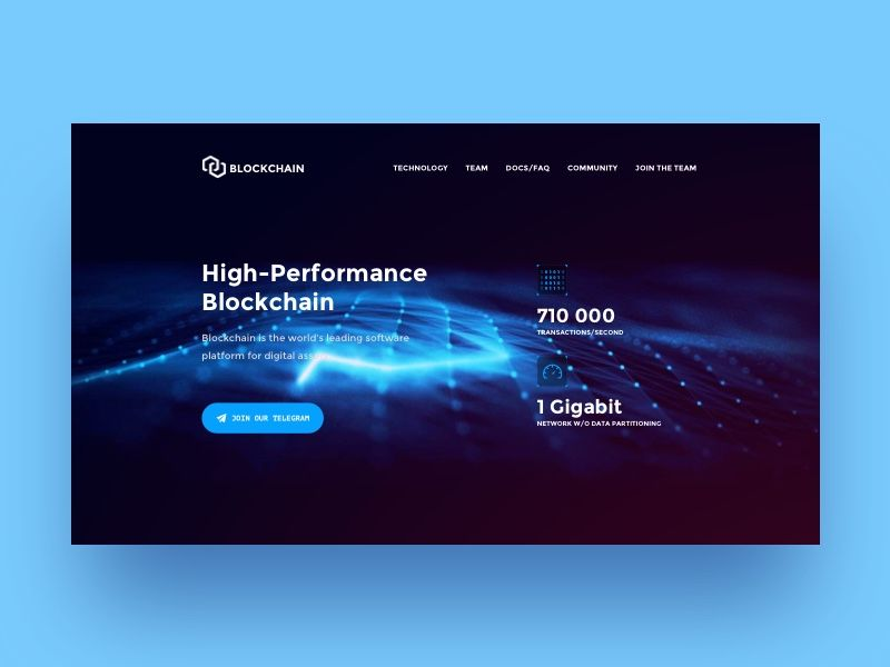 Blockchain Website Concept