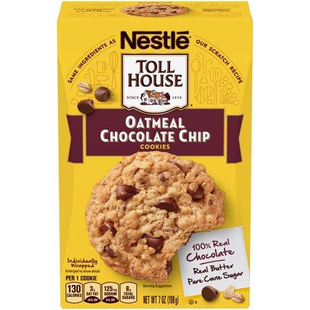 Nestle Toll House Oatmeal Chocolate Chip Cookies Ready To Eat 7 Oz Box Walmart Com Chocolate Chip Oatmeal Oatmeal Chocolate Chip Cookies Chip Cookies