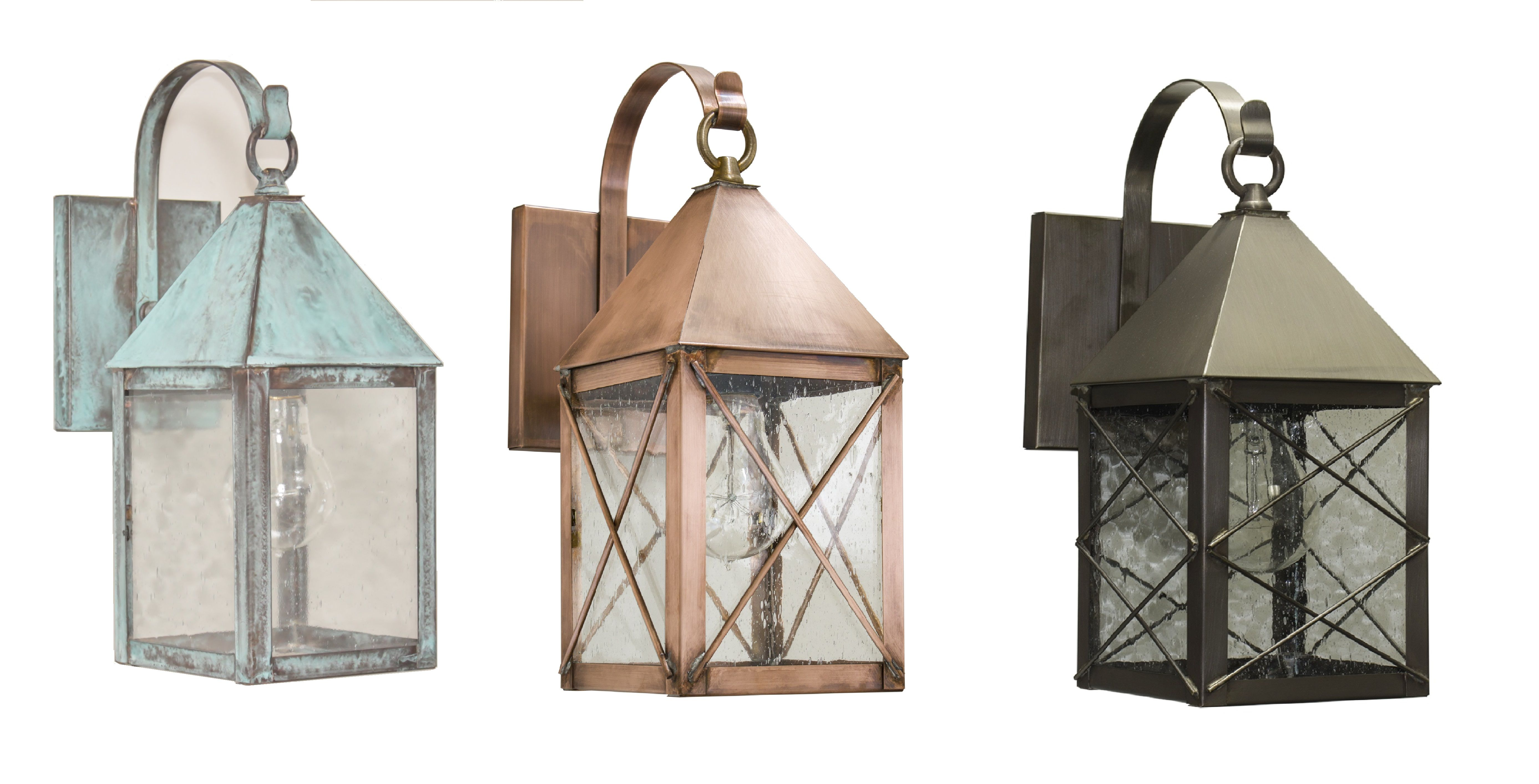 Brass Traditions 531 P Shown In Verde Green Antique Copper And Dark Antique Brass Finishes Brasstraditions Outdoor Wall Lantern Outdoor Wall Sconce Sconces