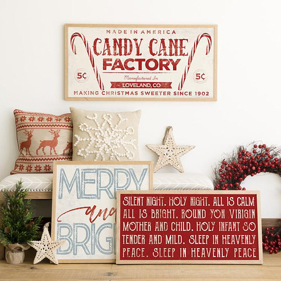 rustic home decor silent night lyrics winter decor christmas decorations rustic rustic