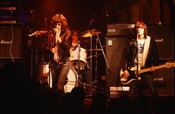 Ramones Joey Ramone Johnny Ramone and Dee Dee Ramone live in NYC