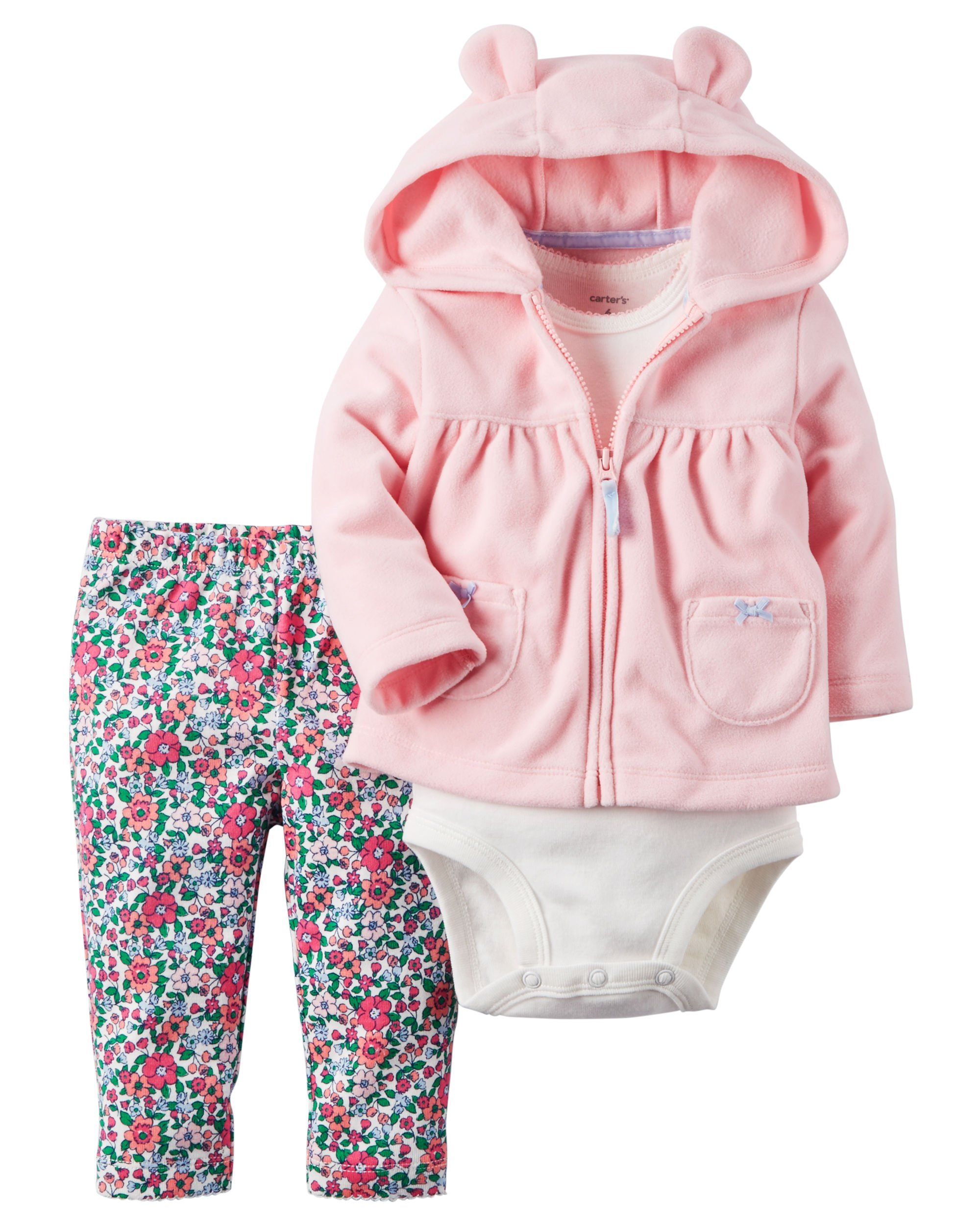 a90719387d7b Carter s Baby Girls 3-Piece Pink Cardigan Set (6 Months).