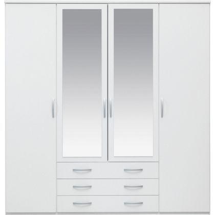 Mirrored Wardrobe, Argos One Door Mirrored Wardrobe