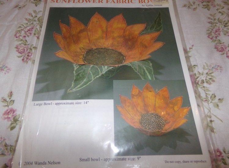 Suflower Fabric Bowls Sewing Patterns