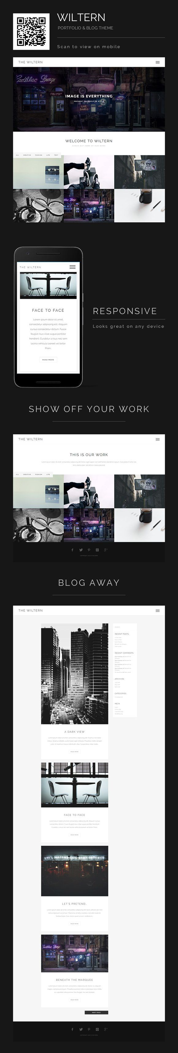 Wiltern - WordPress Portfolio & Blog by KS Designing on ...