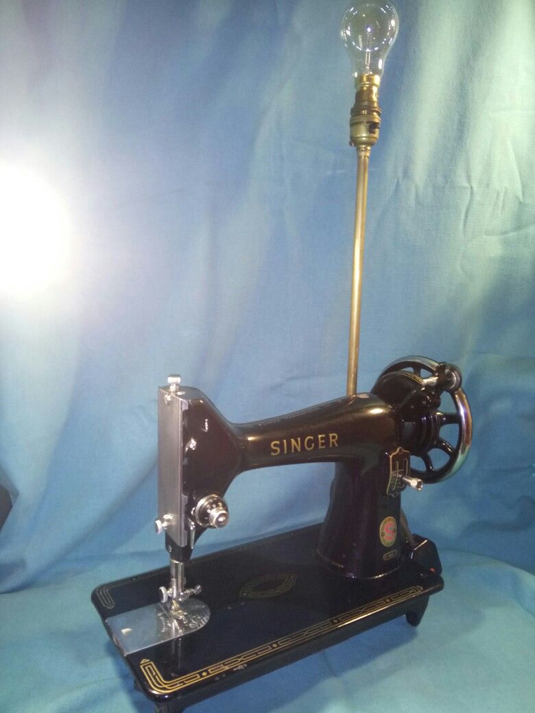 Vintage Singer Sewing Machine Lamp What Kind Of Lamp
