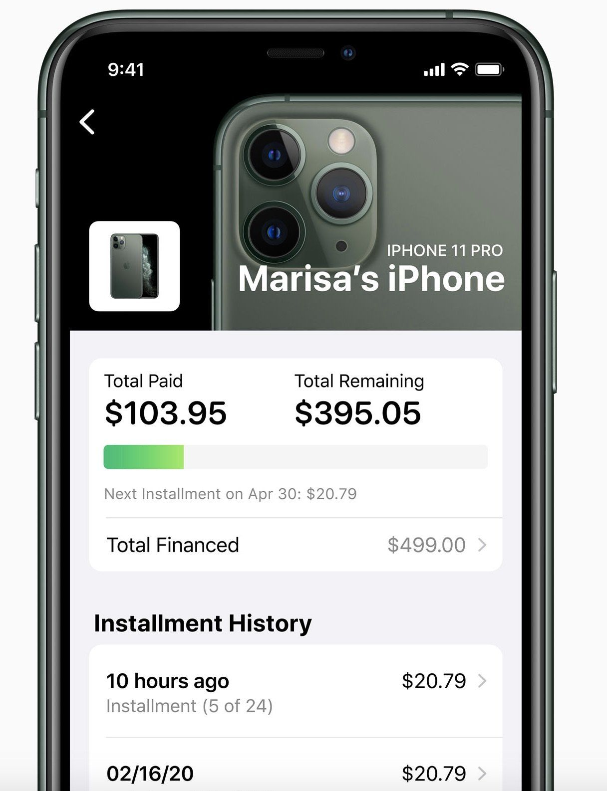 Apple cards 24month interestfree iphone installment