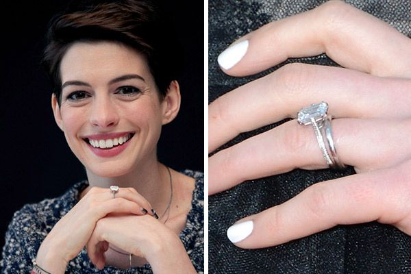 Celebrity Engagement Rings Anne Hathaway Celebrity Engagement