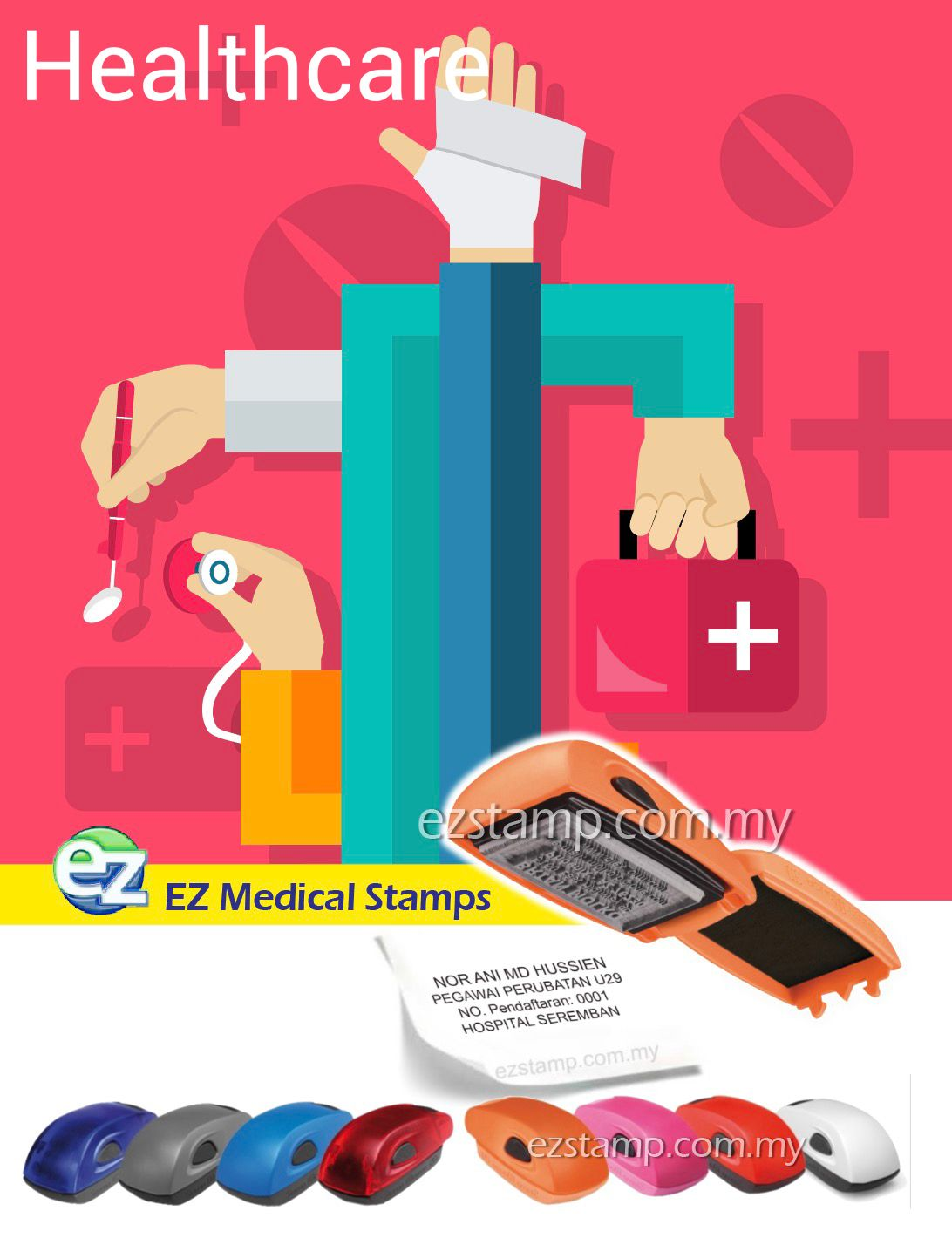 Ez Mouse Stamp Utk Pegawai Perubatan Nurses Doctor Di Malaysia Kami Ada Pelbagai Model Design Utk Dipilih Sila Klik Lin Medical Nurse Self Inking Stamps