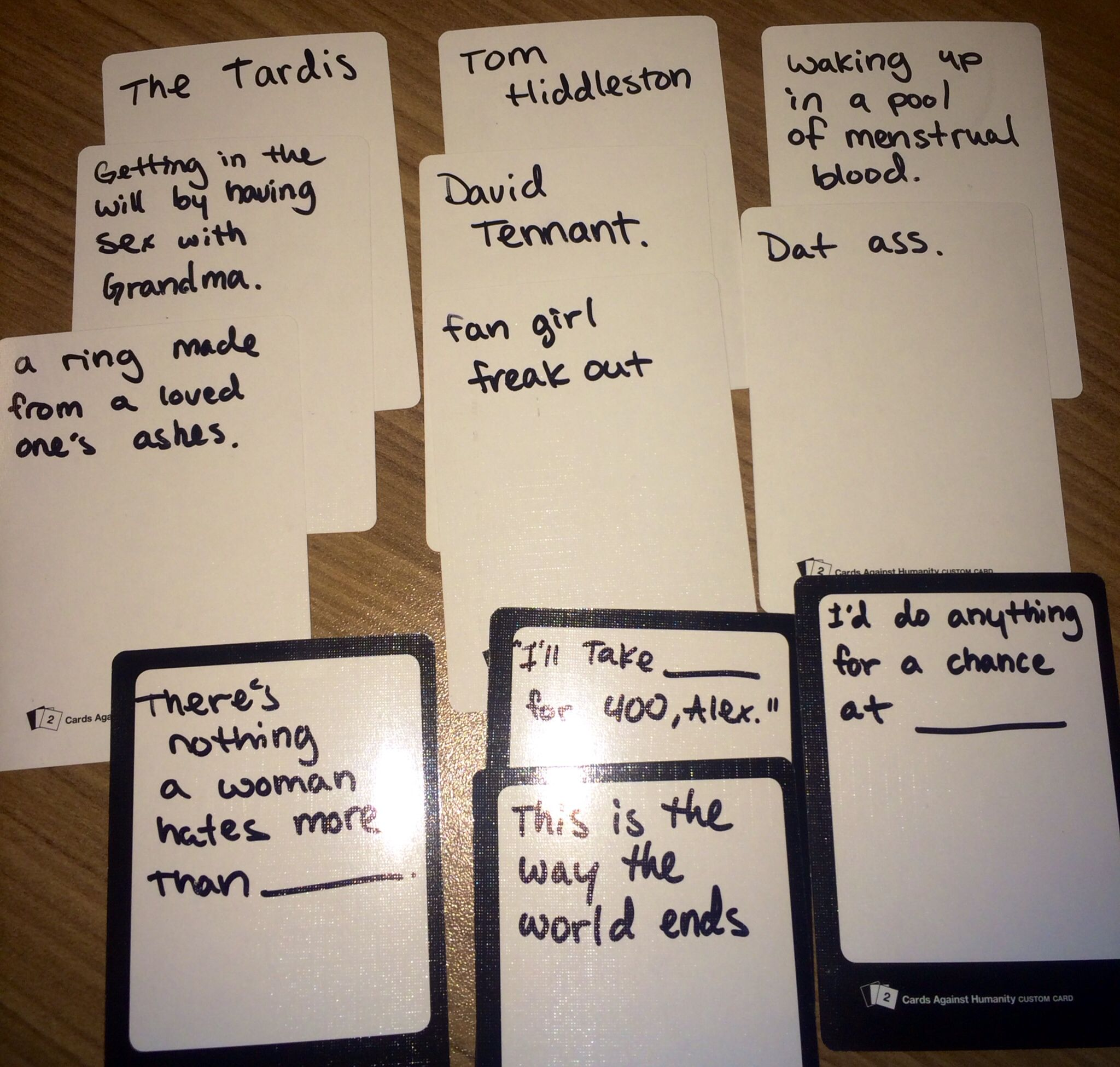 make your own cards against humanity ideas