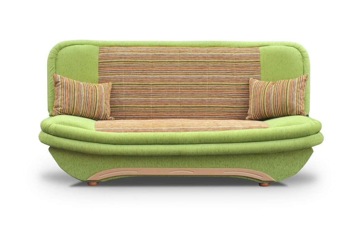Cheap Green Sofa Bed Denis with storage and click clack mechanism ...