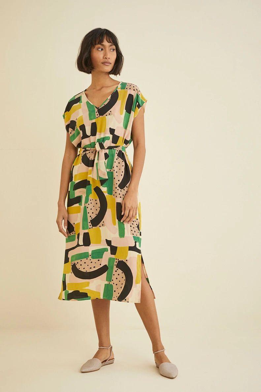 The Most Beautiful Ethical And Sustainable Sundresses House Dresses Midi Short Sleeve Dress Dresses Midi Dress [ 1186 x 791 Pixel ]