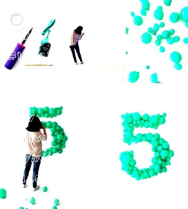 #fitness #balloon #number #ballon #giant #diy #new #gymGiant balloon number DIY - - - Fitness GYM -...