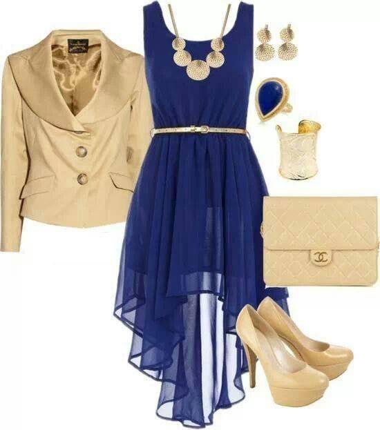 Vestido Tail Azul Rey Accesorios Para Vestido Azul