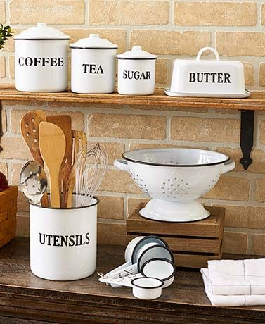 Country Enamelware Kitchen Collection #kitchencollection