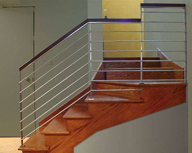 Best Modern Stainless Stair Railing © In Stainless Steel Oak 400 x 300