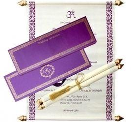 Royal Indian Wedding Cards Sikh Scroll Invitations