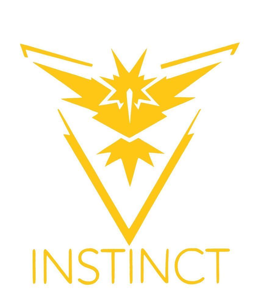 Pokemon Go Team Instinct Logo Yellow Vinyl Decal Sticker Pokemon Go Team Instinct Pokemon Teams Team Instinct Pokemon