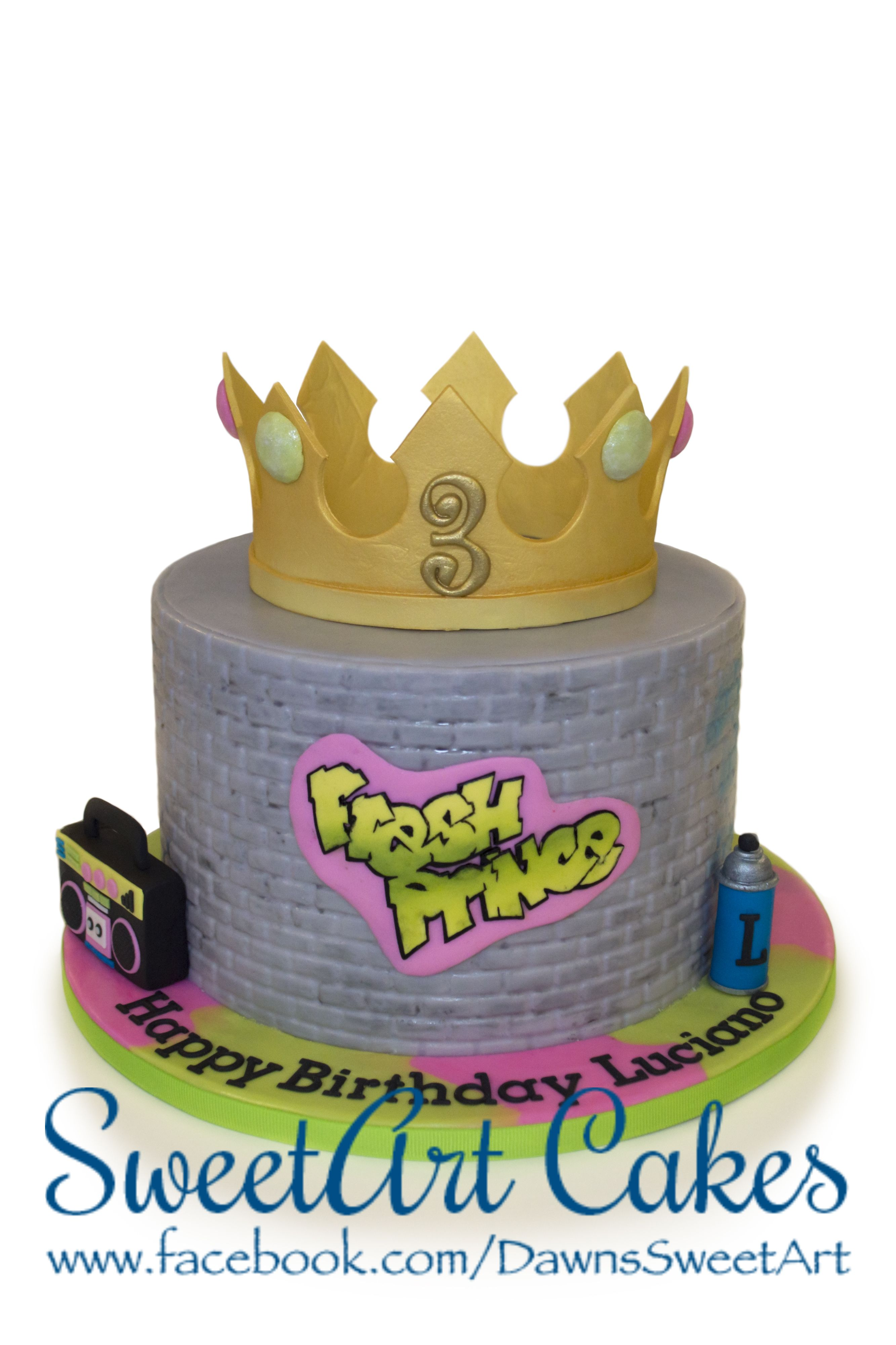 Fresh prince cake   SweetArt Cakes in 2019   Prince birthday party ...