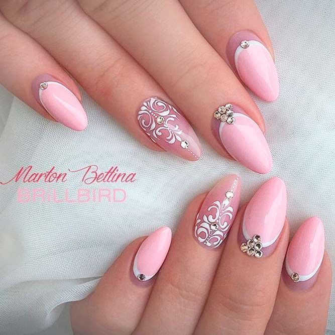 24 Variety Of Almond Nail Designs For A Sophisticated Look Cute And Sweet Pink