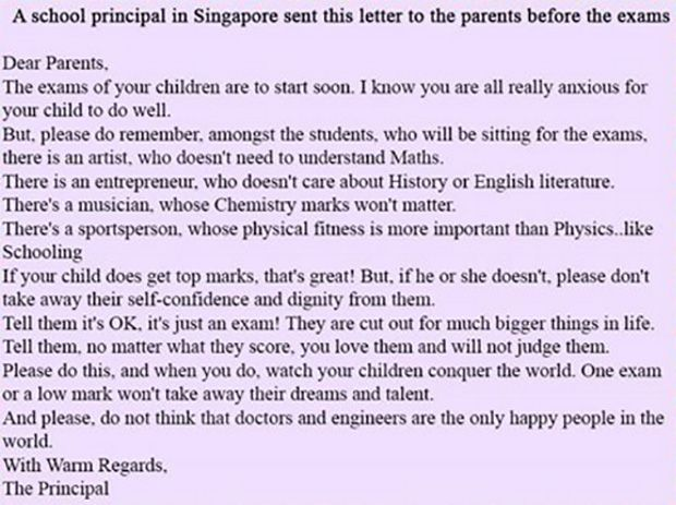 letter to school principal from parent principal sends the best letter to parents before school 133