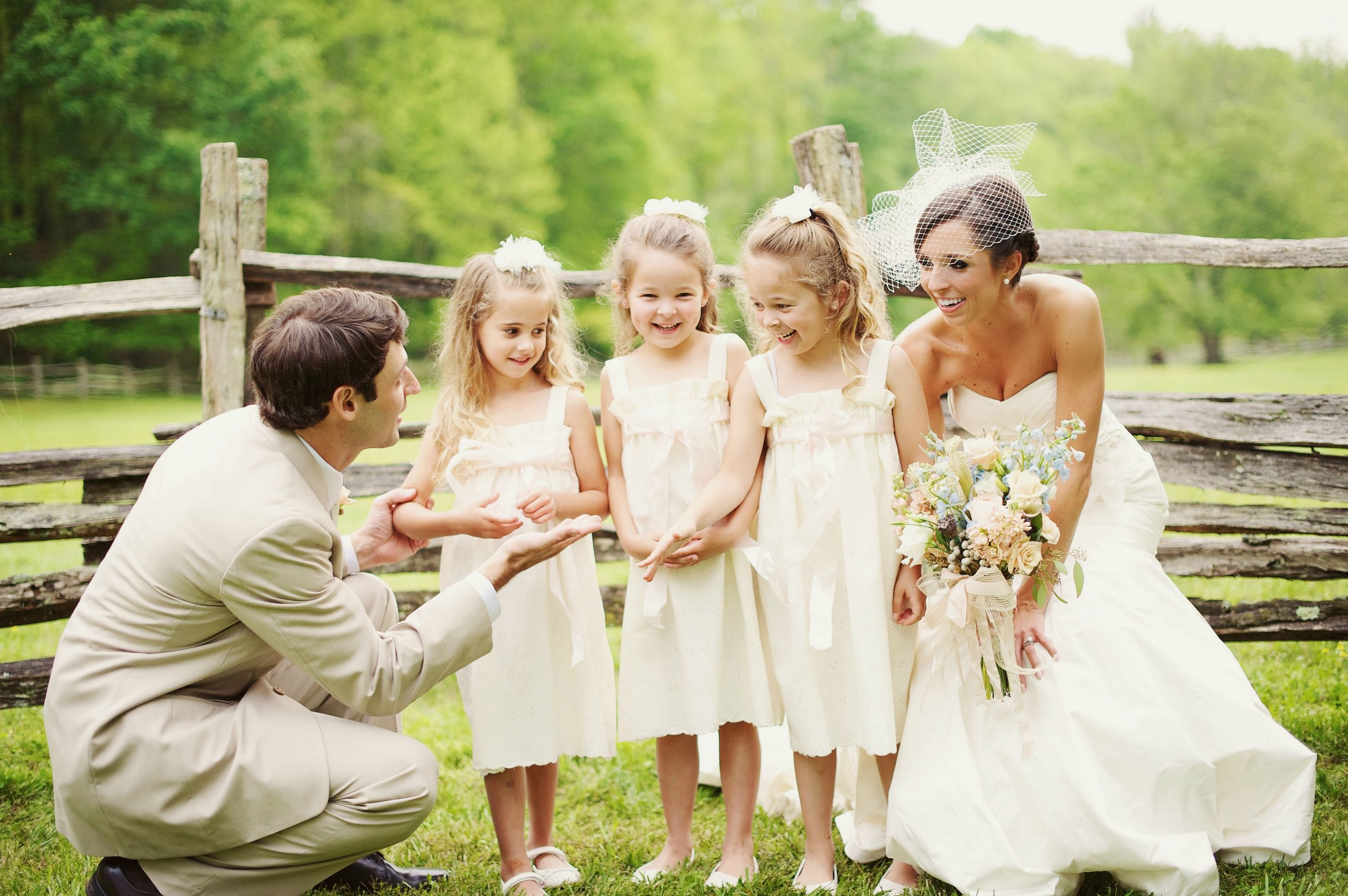 Loved our affordable and simple flower girl dresses from
