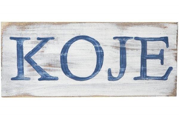 Holzschild Koje Holzschilder Holz Und Schilder