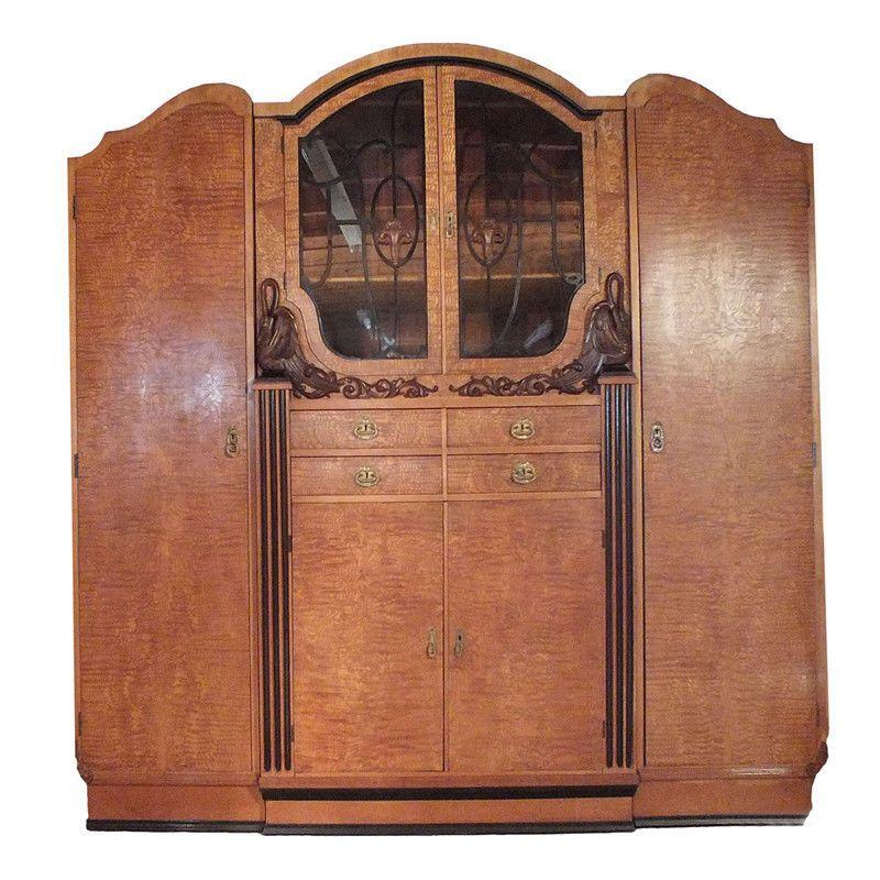 Vintage French 1950 S Art Deco Armoire Art Deco Bedroom French Art Deco Art Deco Furniture
