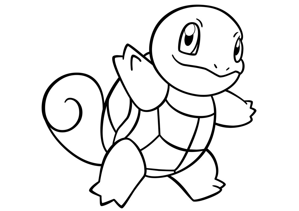 007 Squirtle High Quality Free Coloring From The Category Pokemon More Printable Pictures On Our Website Ba Pokemon Coloring Coloring Pages Pokemon Sketch