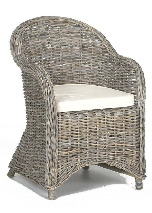 Rotan stoel kubu grey, vergrijsd rotan   Decomeubel   Tuin   Pinterest   Grey and Met