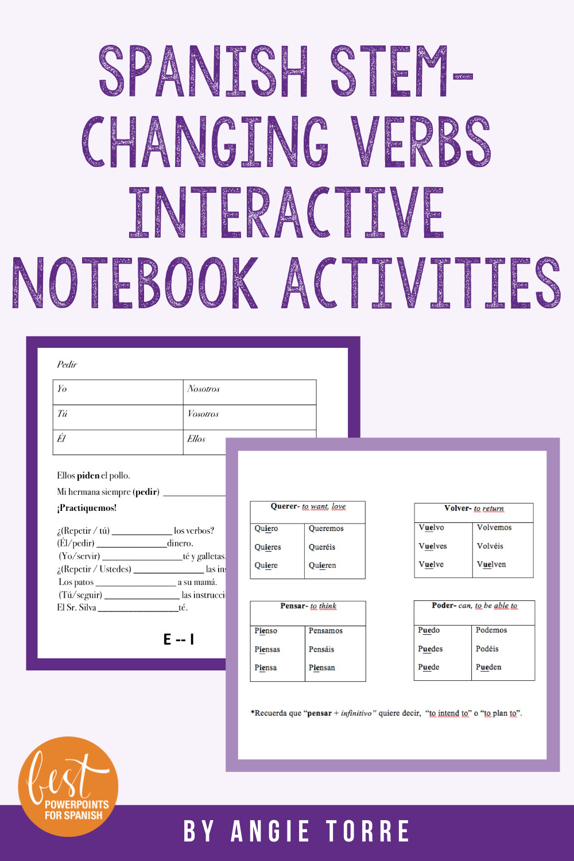 Spanish Stem Changing Verbs Interactive Notebook Activitie Interactive Notebook Activities Spanish Interactive Notebook Activities Spanish Interactive Notebook [ 1500 x 1000 Pixel ]