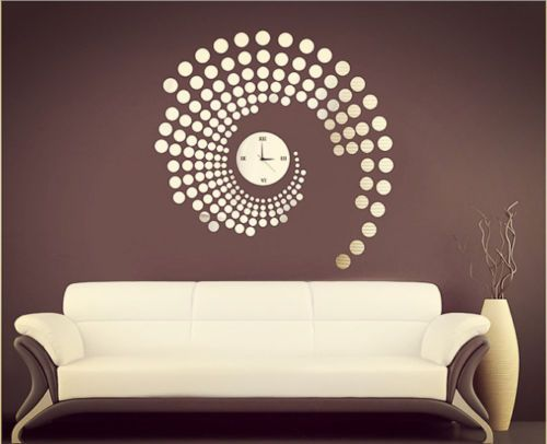 Large Number Wall Clock Mirror