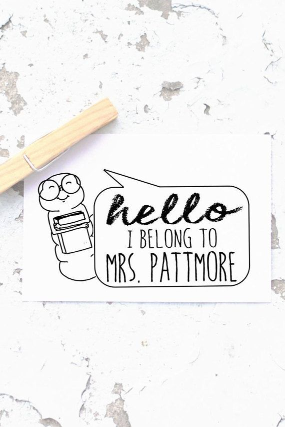 Teacher Stamp Custom Book Self Inking Stamp From By