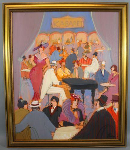 Vintage Original ISAAC MAIMON Modernist Kabaret Cabaret Night Club Oil Painting https://t.co/IzSeeYmNXD https://t.co/Gk2438qArP