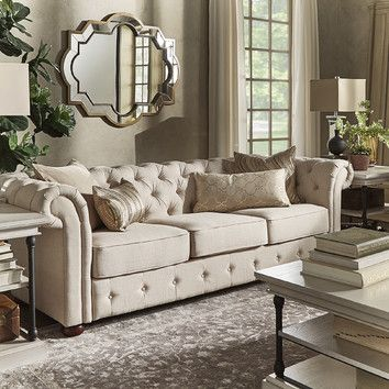 You Ll Love The Toulon Tufted Button Sofa At Wayfair Great Deals