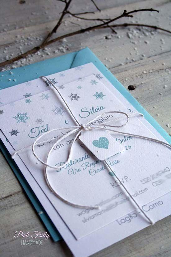 Partecipazioni Matrimonio Inverno.Matrimonio Invernale Tante Idee Originali Inviti Per