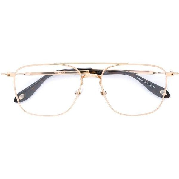 Givenchy rectangular frame glasses ($390) ❤ liked on Polyvore ...