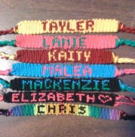 Friendship Bracelets With Names