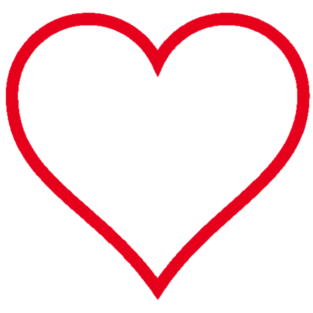 Love Heart Outline Heart Shapes Template Free Clip Art Love Heart Images