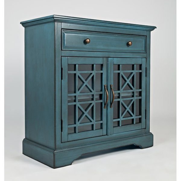 Geometric Fretwork Pairs With A Clean Lined Design To Round Out This 2 Door Chest Use It To Add A Stately Touch To Th Accent Doors Accent Chest Accent Cabinet