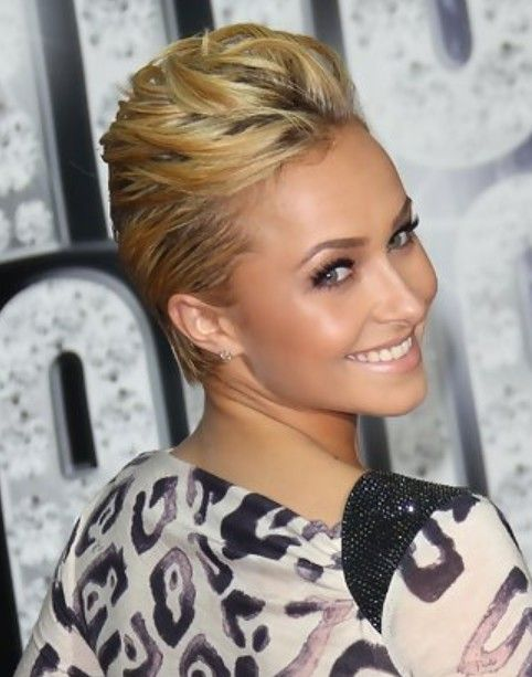 Hayden Panettiere Short Hairstyle Back Swept Bangs Pretty Designs Short Hair Styles Cool Short Hairstyles Hair Styles