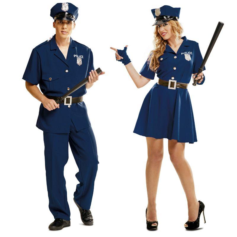 Pareja disfraces polic as azules parejas disfraces for Disfraces parejas adultos